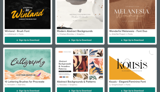 【期間限定】Creative Market 今週の無料素材、6個のデザイン素材が無料でダウンロードできるのは #ナイショ。(2021年05月第4週)