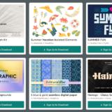 【期間限定】Creative Market 今週の無料素材、6個のデザイン素材が無料でダウンロードできるのは #ナイショ。(2021年06月第4週)
