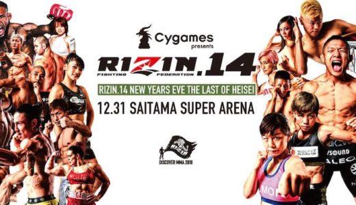 Cygames presents RIZIN.14 試合結果