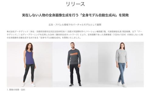 DataGrid、実在しない人物の全身画像生成を行う「全身モデル自動生成AI」を開発したのは #ナイショ。