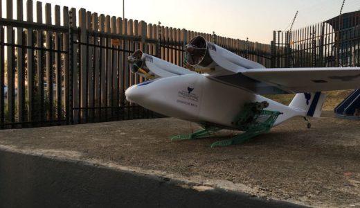 配達用固定翼ドローン、飛び立つための足を持ってるのは #ナイショ。
