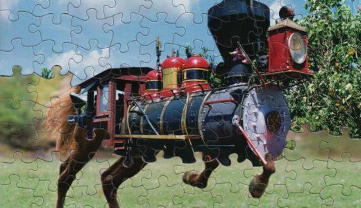 ジグソーパズル、違うパズルを組み合わせて謎のマッシュアップを作ってる人がいるのは #ナイショ。