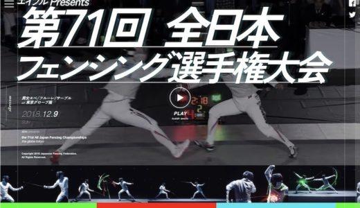 エイブルPresents 第71回全日本フェンシング選手権大会(個人戦) 試合結果